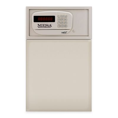 Mesa Safe Company Steel Adjustable Wall Safe with Electronic Lock in Cream