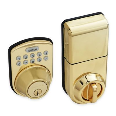 Honeywell 8.75-Inch Digital Door Lock and Deadbolt in Polished Brass