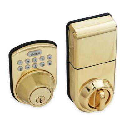 Honeywell 8.75-Inch Digital Door Lock and Deadbolt in Polished Brass