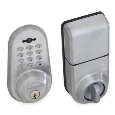 Honeywell 8.75-Inch Digital Door Lock and Deadbolt with Remote in Satin Chrome