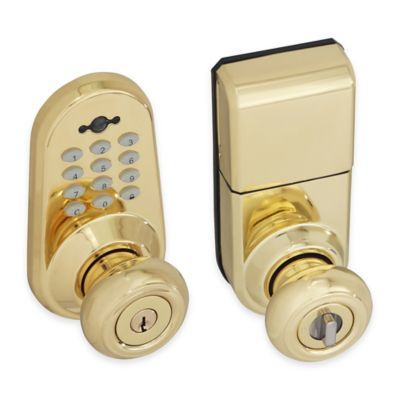 Honeywell 9.88-Inch Digital Door Entry Knob Lock with Remote in Polished Brass