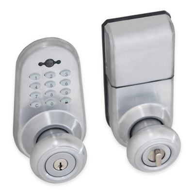 Honeywell 9.88-Inch Digital Door Entry Knob Lock with Remote in Satin Chrome