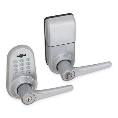 Honeywell 10-Inch Digital Door Entry Lever Lock with Remote in Satin Chrome