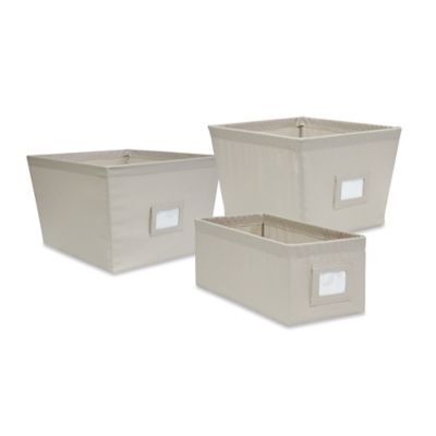 Small Durable Fabric Storage Bin in Pumice