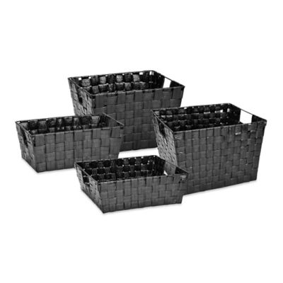 Black Woven Storage Basket