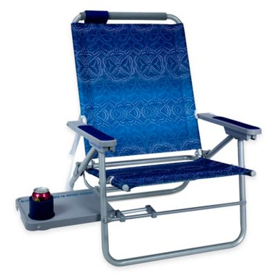 Big Surf Beach Chair with Slide Table in Blue