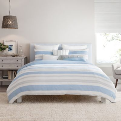 Real Simple® Mikayla Reversible Full/Queen Duvet Cover in Blue/White/Grey