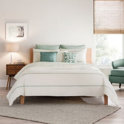 Real Simple® Corra European Pillow Sham in Seafoam