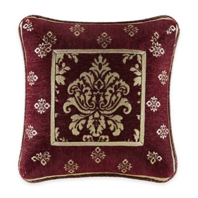 J. Queen New York™ Dynasty Square Throw Pillow in Red