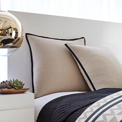 Vince Camuto® Toas European Pillow Sham in Khaki