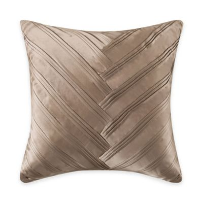 Vince Camuto® Toas Signature V Square Throw Pillow in Beige