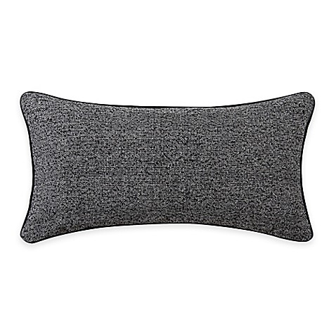 Throw Pillow Bolster : Vince Camuto Taos Signature Bolster Throw Pillow in Grey/Black - Bed Bath & Beyond