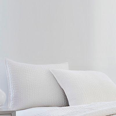 Vince Camuto® Lyon Crocodile Standard Pillow Sham in White