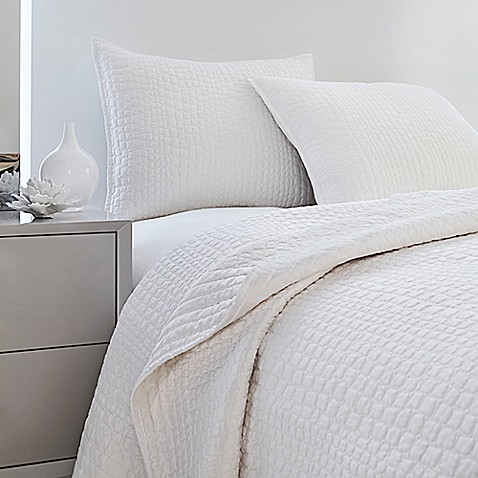 Buy Vince Camuto 174 Lyon Crocodile Full Queen Coverlet In