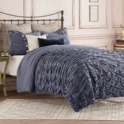 Anthology™ Kendall Twin Duvet Cover in Grey