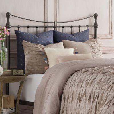 Anthology™ Kendall European Pillow Sham in Indigo/Oatmeal