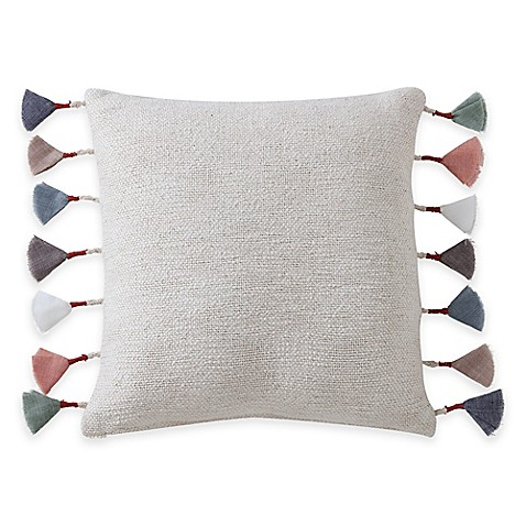 Anthology Kendall Tassel Square Throw Pillow in Natural - Bed Bath & Beyond