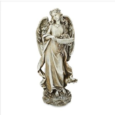 15.75-Inch Angel with Bowl Birdfeeder