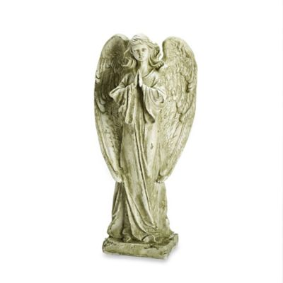 22-Inch Praying Angel Garden Ornament in Beige