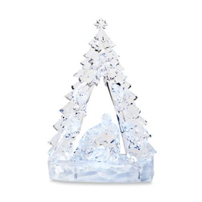 10.5-Inch LED Nativity Tree with Base
