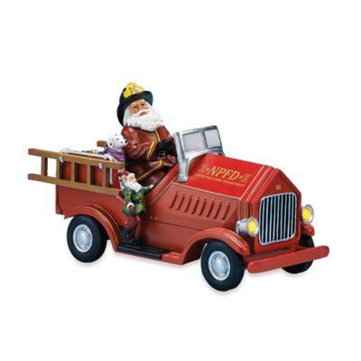 11-Inch Musical Santa Driving Fire Truck