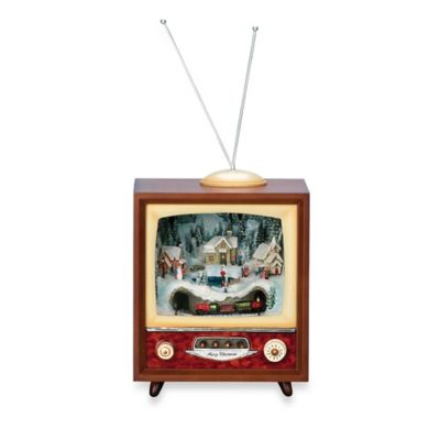 LED Musical TV with Rotating Train