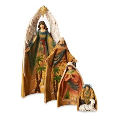 10.83-Inch 4-Piece Nesting Nativity Set