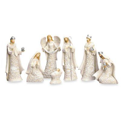7.5-Inch 7-Piece Cut-Paper Style Nativity Set