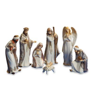 8.5-Inch 7-Piece Porcelain Nativity Set