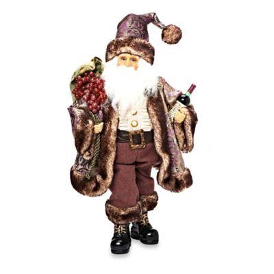 Whimsical Wine Loving Santa Figurine
