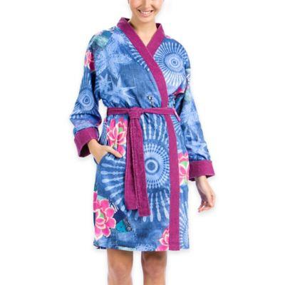 Desigual® Denim Folk 2-Face Satin Terry Large Bath Robe