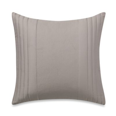 Vera Wang Home Bamboo Leaves Square Throw Pillow in White