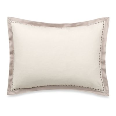 Vera Wang Home Bamboo Leaves Eyelet Breakfast Throw Pillow in White