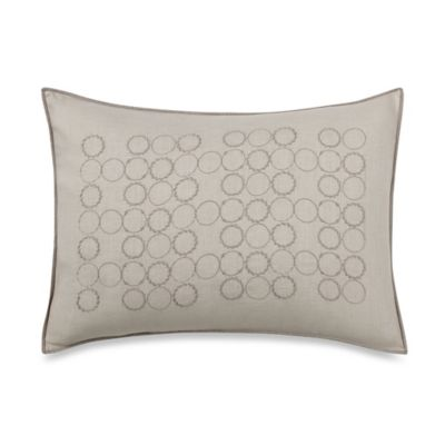 Vera Wang Home Bamboo Leaves Circle Breakfast Throw Pillow in White