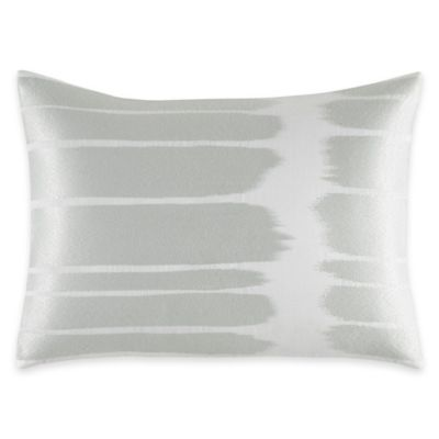 Vera Wang Home Painted Stripe Breakfast Throw Pillow in Aqua Blue