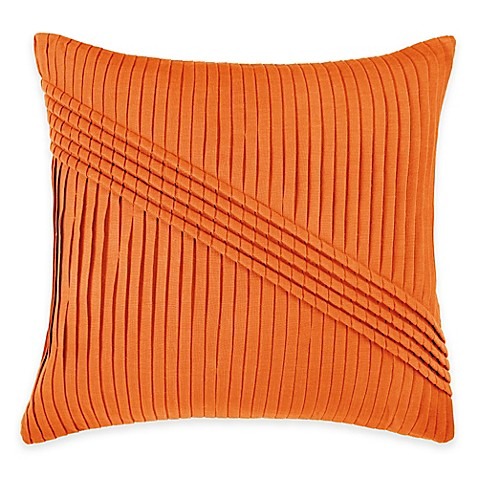 Rizzy Home Pleated Pattern Square Throw Pillow - www.BedBathandBeyond.com
