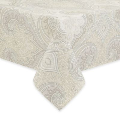 Echo Design Juneau 60-Inch x 102-Inch Oblong Tablecloth in Gray