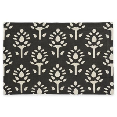 B. Smith Eleora Printed Placemat in Black/Tan