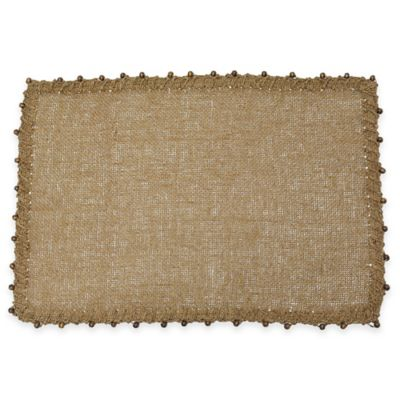 B. Smith Madera Woven Placemat in Brown