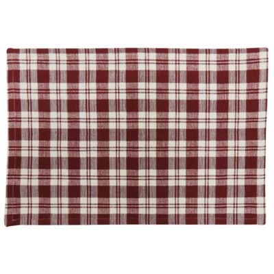 Park B. Smith® Plaid Placemat in Red/White