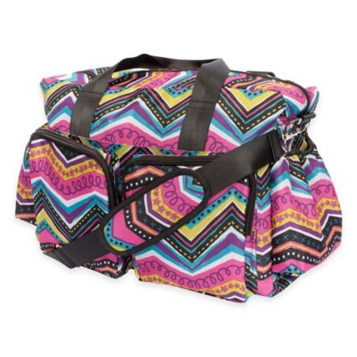 Trend Lab® Modern Multi Chevron Duffle Diaper Bag in Multicolor