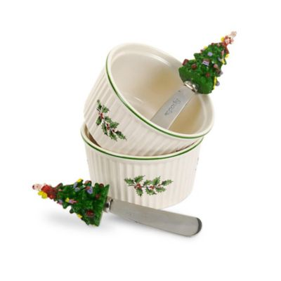 Spode® Christmas Tree Dip Ramekins (Set of 2)