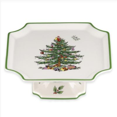 Spode® Christmas Tree Square Footed Cake Plate