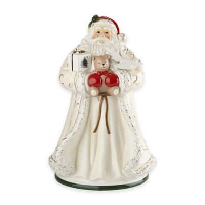 Spode® Christmas Tree 12-Inch Gold Santa Cookie Jar