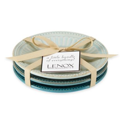 Lenox® French Perle™ Groove Mini Everything Plates in Blue (Set of 3)