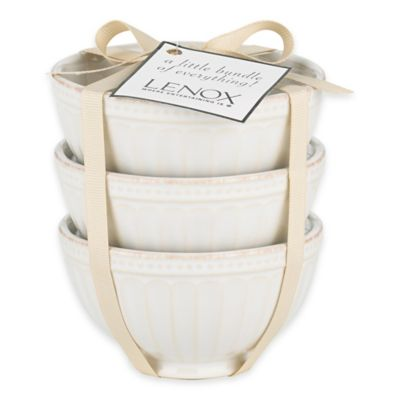 Lenox® French Perle™ Groove Mini Everything Bowls in White (Set of 3)