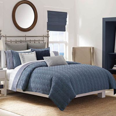 Nautica® Ayer Full/Queen Duvet Cover Set in Navy