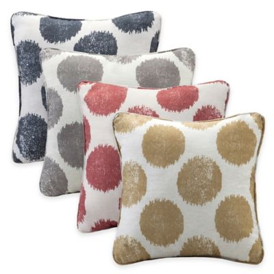 Madison Park Maru Square Throw Pillow in Grey (Set of 2)