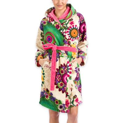 Desigual® Happy Blossom Velour Large Hooded Bath Robe
