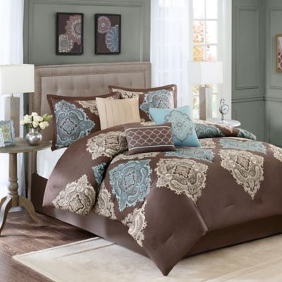 Madison Park Monroe King/California King Duvet Cover Set in Taupe
